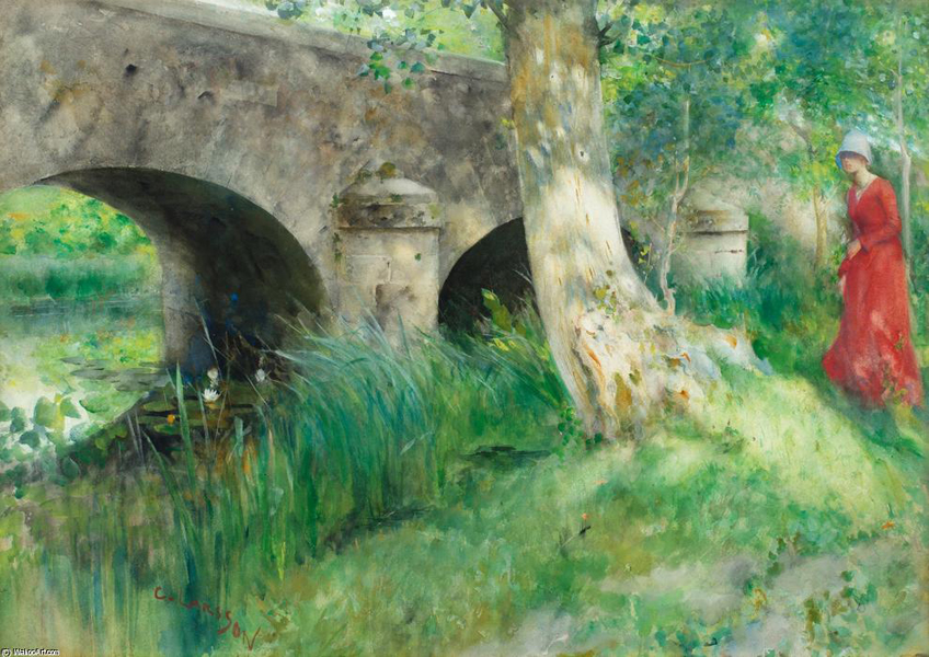 Carl-Larsson-The-Bridge-in-Grez